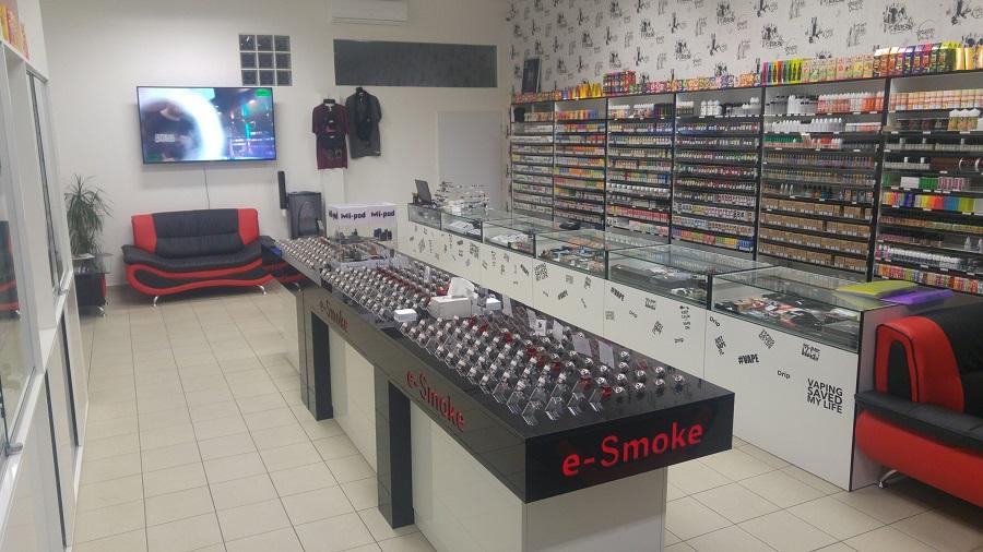 Test pult v e-smoke vape shop