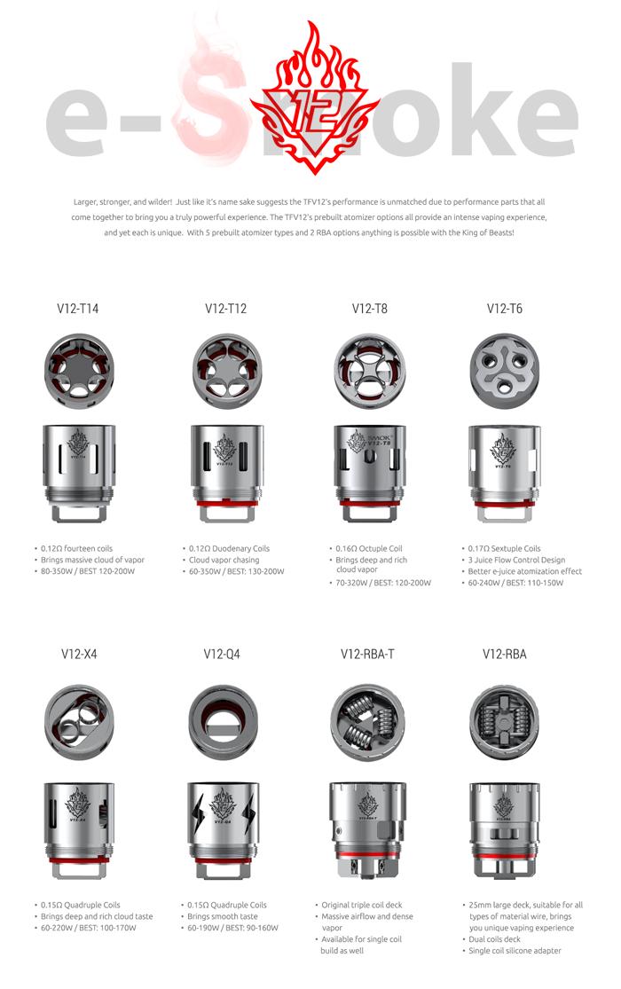 SMOK V12-RBA head (www.e-smoke.sk)