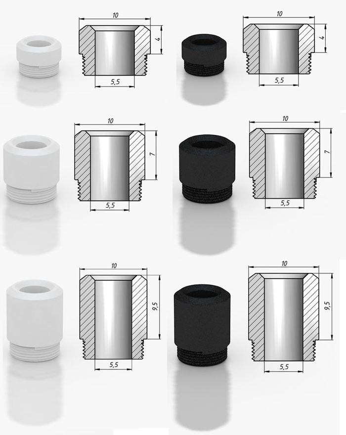 SvoёMesto K5 - POM drip tip (www.e-smoke.sk)