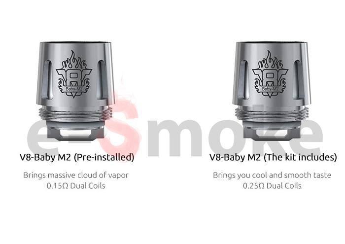 SMOK V8 Baby M2 coil head (www.e-smoke.sk)