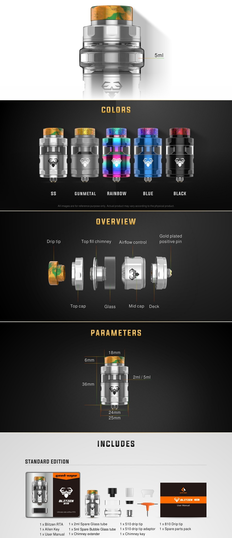 GeekVape Blitzen RTA at e-smoke vape shop