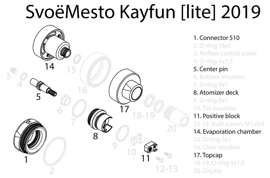 Kayfun Lite Spare parts at e-smoke vape shop