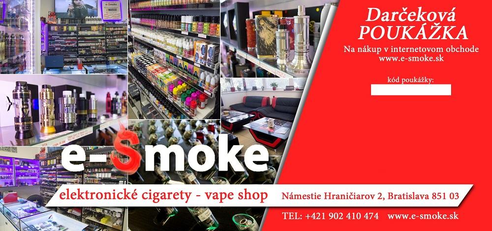 Darčeková poukážka e-smoke vape shop