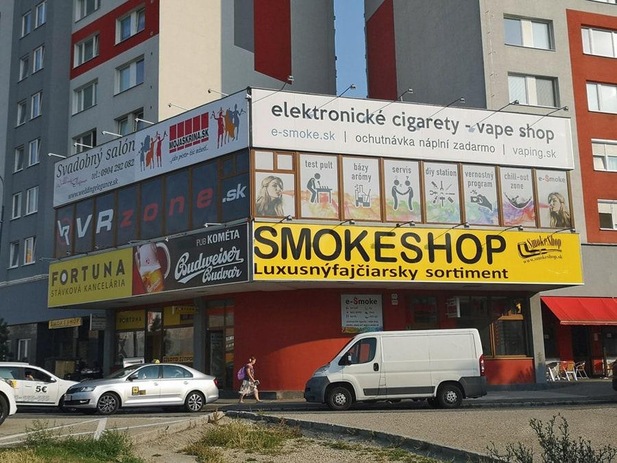 predajňa elektronických cigariet e-smoke vape shop Bratislava