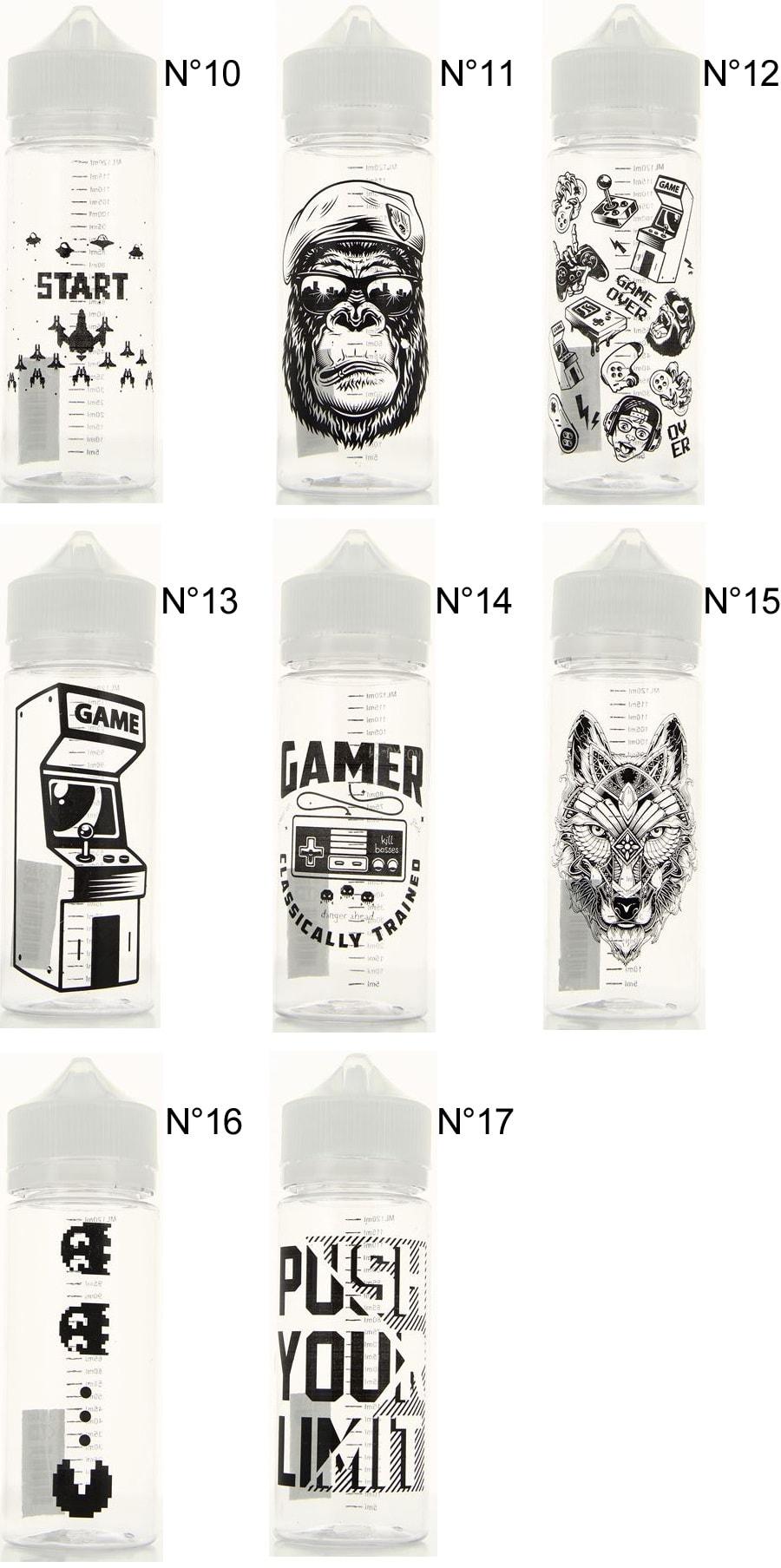 nové 120ml Gorilla DIY fľašky - www.e-smoke.sk