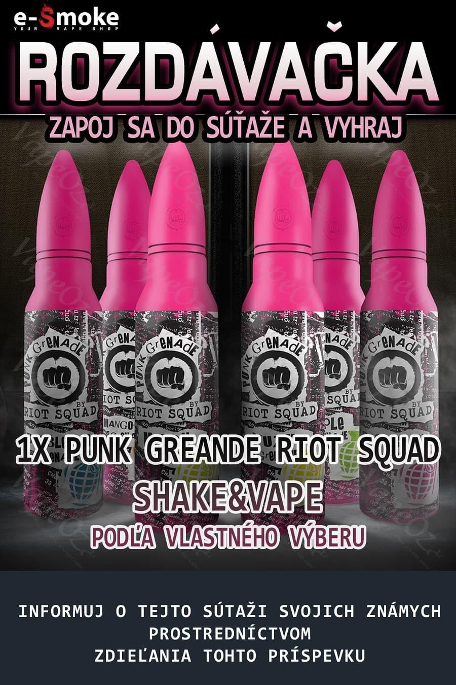 Riot Squad giveaway at e-smoke vape shop