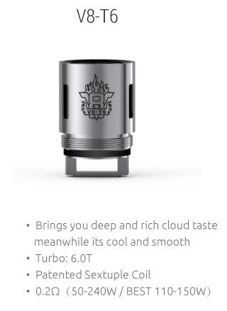 SMOK TFV8 V8-T6 Cloud Beast coil