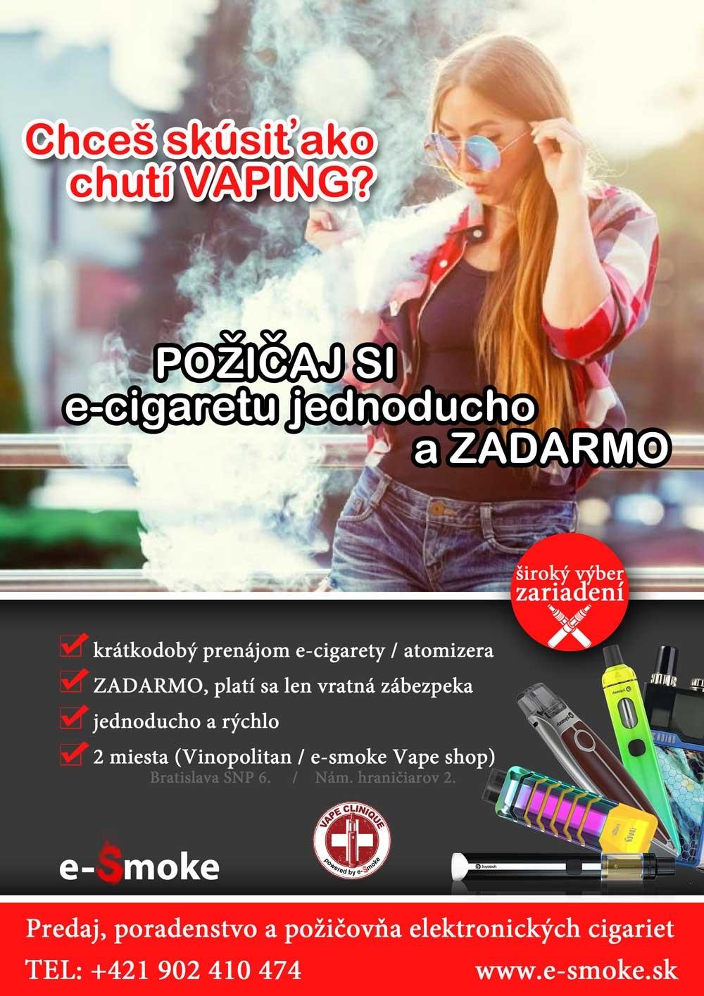 Vape požičovňa e-smoke vape shop