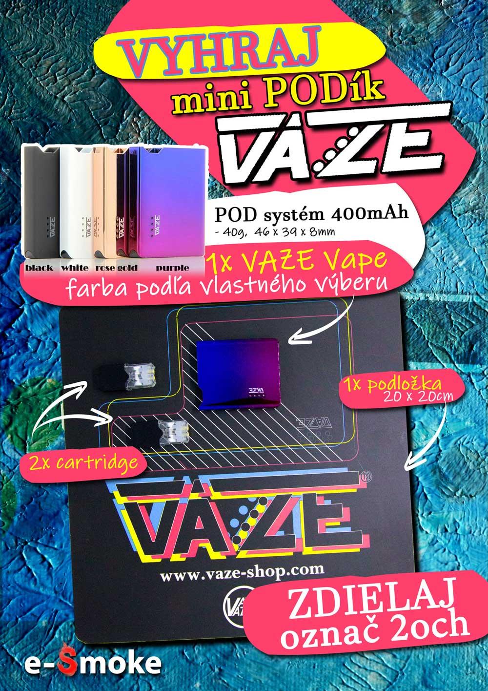 Vaze Vape Giveaway at e-smoke vape shop